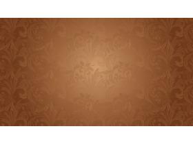 棕色艺术花纹图案PPT背景图片