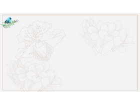 三张绿色淡雅植物图案PPT背景图片