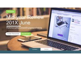 网页设计风格的欧美图片排版PPT模板