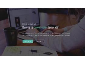 欧美网页排版设计风格通用商务PPT模板