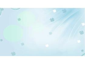 绿色淡雅四叶草PPT背景图片