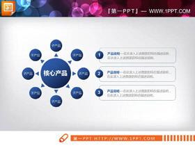 蓝色实用商业融资PPT图表大全