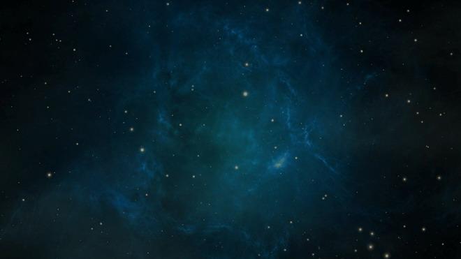 蓝色唯美星空PowerPoint背景图片