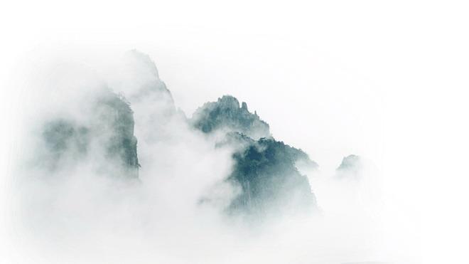 九张淡雅水墨中国风PPT背景图片