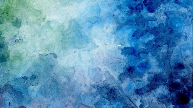 第一ppt ppt背景 艺术背景图片 蓝绿水彩艺术渲染powerpoint背景图片