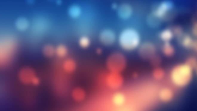 蓝红梦幻光斑PPT背景图片