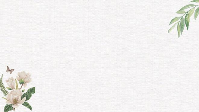 四張淡雅文藝花卉ppt背景圖片圖片