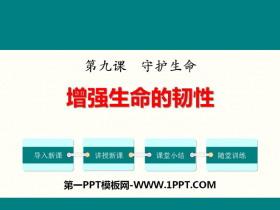 《增强生命的韧性》PPT课件