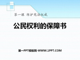 《公民权利的保障书》PPT