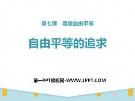 《自由平等的追求》PPT免费下载