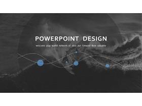 黑白欧美图片排版设计PPT模板免费下载