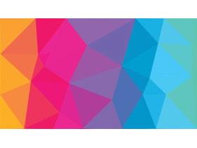 九张彩色低平面多边形PPT背景图片