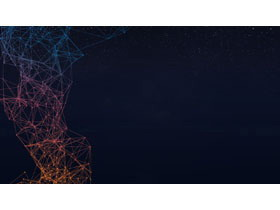 八张点线链接的科技PPT背景图片免费下载