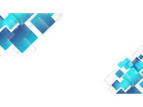 四张蓝色方块矩形叠加PPT背景图片