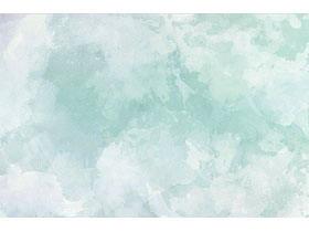 绿色淡雅水彩PPT背景图片