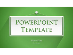 绿色阴影效果的简洁PPT模板免费下载