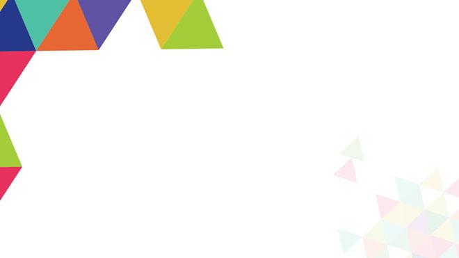 三张彩色多边形拼接PPT背景图片免费下载