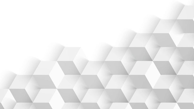 三张白色立体多边形PPT背景图片