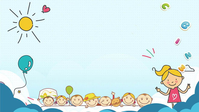 三张可爱儿童卡通powerpoint背景图片 - 第一ppt