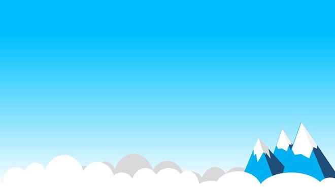 四张卡通蓝天白云PPT背景图片