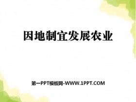 《因地制宜发展农业》PPT