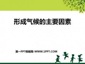 《形成气候的主要因素》PPT