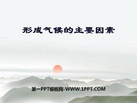 《形成气候的主要因素》PPT课件