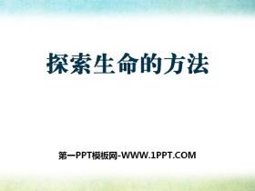 《探索生命的方法》PPT