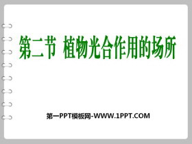 《植物光合作用的场所》PPT课件