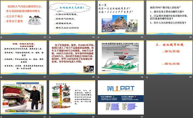 《城市的环境问题与环境优化》PPT课件