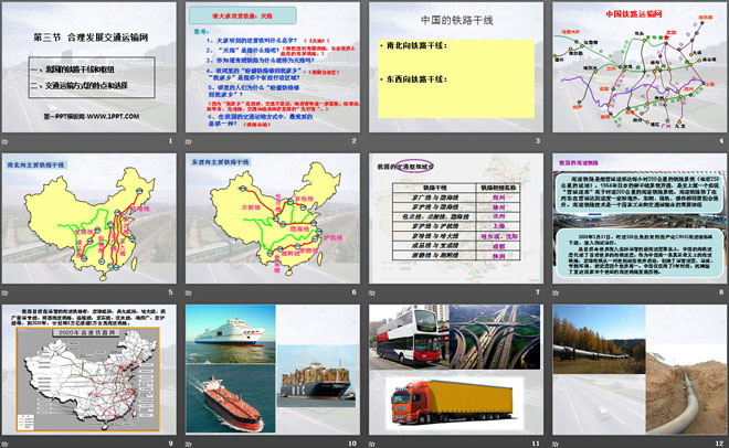 《合理发展交通运输网》PPT课件