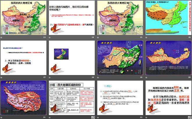 《中国四大地理区域划分》PPT课件