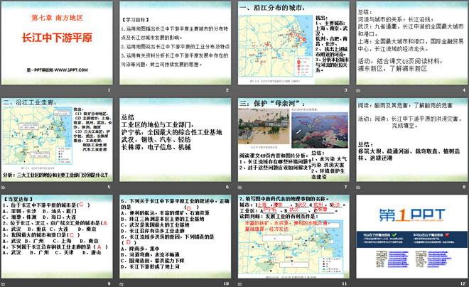 《长江中下游平原》PPT