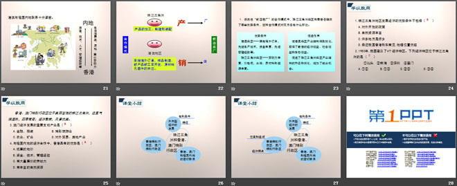 《珠江三角洲和香港、澳门特别行政区》PPT下载