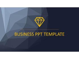 欧美蓝灰扁平化商务PPT模板免费下载
