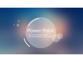 蓝色朦胧iOS风格简洁PPT模板