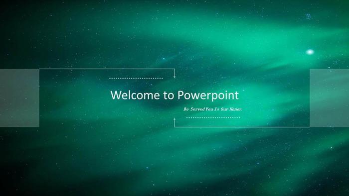 绿色模糊iOS风格的科技行业PPT模板免费下载