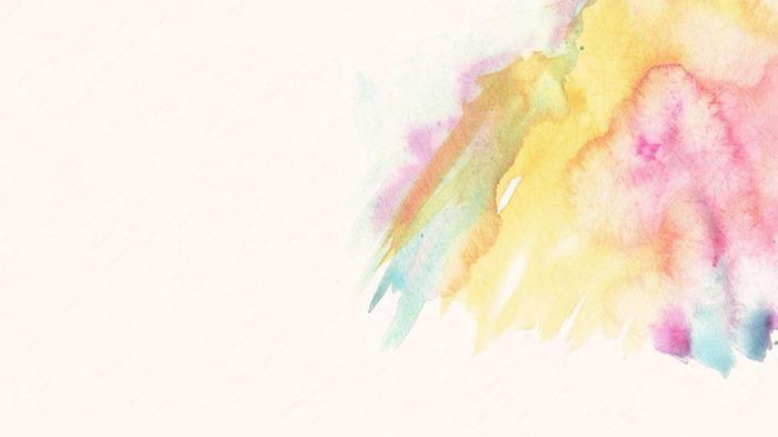 11张彩色唯美水彩PPT背景图片打包下载