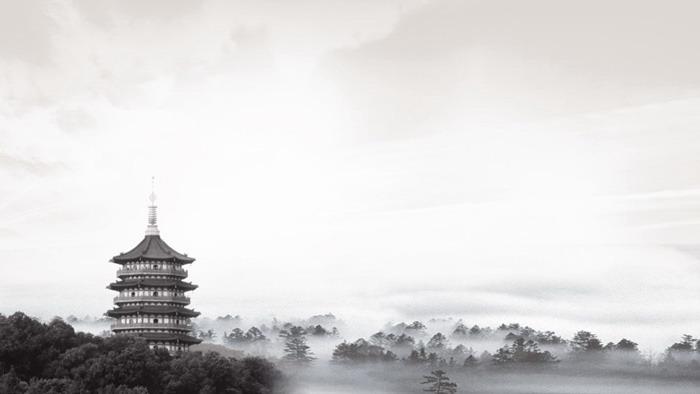 六张水墨山水中国风PPT背景图片免费下载