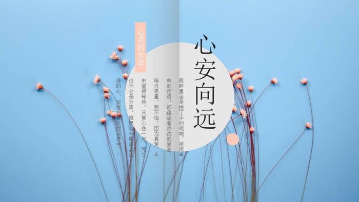 红色小花点缀的图片排版杂志风格PPT中国嘻哈tt娱乐平台