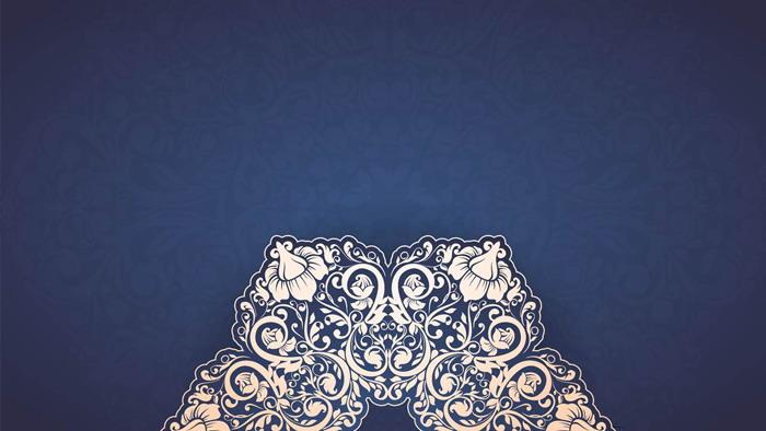5张蓝色精致花纹powerpoint背景图片 - 第一ppt