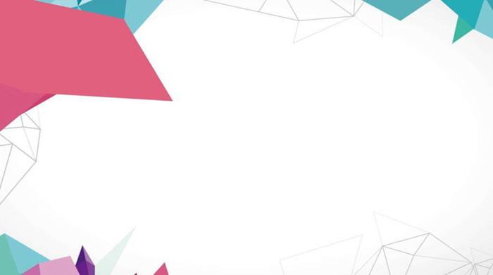 六��彩色�r尚多�形PPT背景�D片