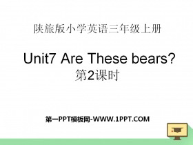 《Are These Bears?》PPT�n件