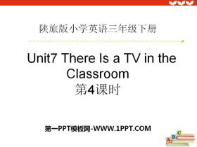 《There Is a TV in the Classroom》PPT课件下载