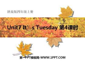 《It's Tuesday》PPT课件tt娱乐官网平台