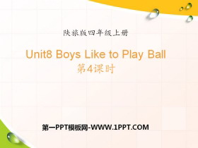 《Boys Like to Play Ball》PPT课件下载
