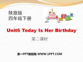 《Today Is Her Birthday》PPT课件