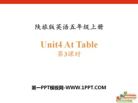 《At Table》PPTtt娱乐官网平台