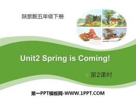 《Spring Is Coming》PPT课件