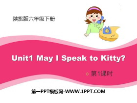 《May I Speak to Kitty?》PPT